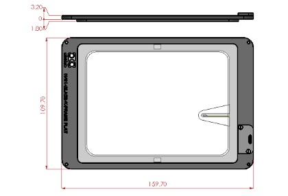 H401-K-FRAME-GLASS-FLAT-Dimensions